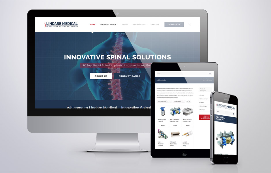 Medical Supplier Website Creation - Lindare Medical